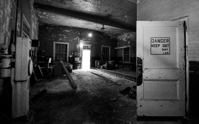 Pumphouse interior before renovation